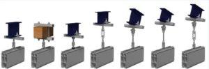 zawieszenia podsufitowe do systemów rollyx 300x99 - System lekkobieżnych szyn aluminiowych System lekkobieżnych szyn aluminiowych